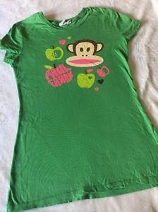 Paul Frank Juniors Women's Graphic T-Shirt Monkey  Cap Sleeve XS Green Apples  | eBay