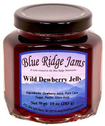 Blue Ridge Jams: Wild Dewberry Jelly, Set of 3 (10 oz Jars): Amazon.com: Grocery & Gourmet Food