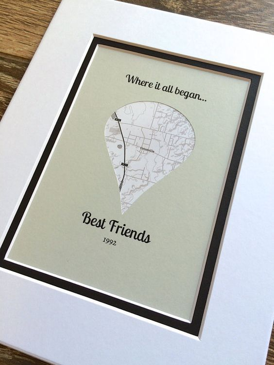 Where It All Began -Gift For Best Friends- Long Distance Friendship Relationship Gift- Valentine's Day Gift for Best Friend – Unique Vday