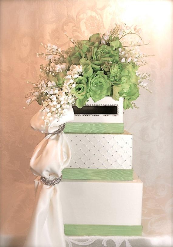 Wedding Card Box Christening Bridal By Wrapsodyan 132 00