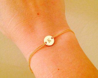 Stieg gold Monogram Armband anfängliche Armband von Hibiscusdays