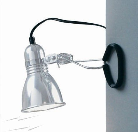 Photo Metal Wall Spotlight with Clamp, Nordlux 59372029 Photo Clamp Lamp 60W