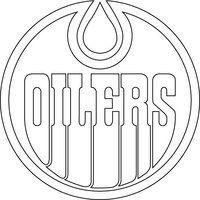 Edmonton Oilers Logo Outline Vector By Broken bison Patterns For Graphs Pinterest Coloring