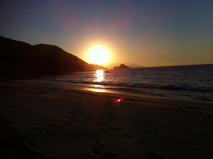 Sunset in Manzanillo, Jalisco, Mexico