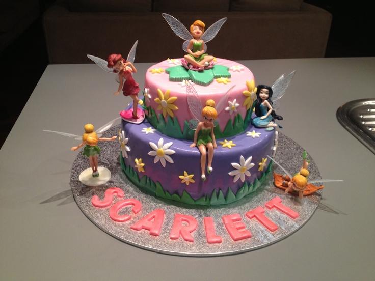 Tinkerbell cake for Scarlett's 3rd birthday.