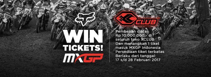 Menangkan 1 tiket masuk MXGP Indonesia untuk pembelian diatas Rp10.000.000 diseluruh toko XCLUB Persediaan tiket terbatas Berlaku dari 17 sampai 28 Februari 2017  #xtremerated #xclub #mxgpIndonesia #mxgp2017
