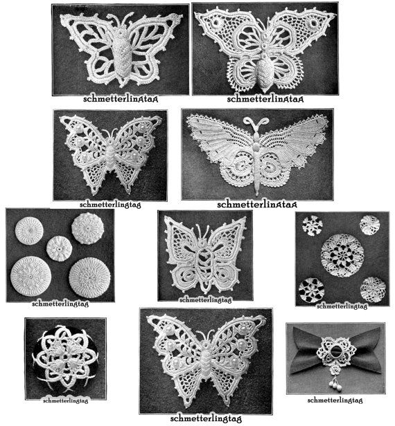 1912 Gibson Girl Irish Crochet Book Butterfly Butterflies Laces Lace Flower Flowers Motif Pattern Emerald Isle DIY Crocheted Reenactment on Etsy, $16.38 AUD