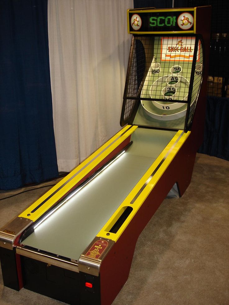Skeeball in the entertainment/game room. Yeah. That'll happen. Next to the air hockey table.