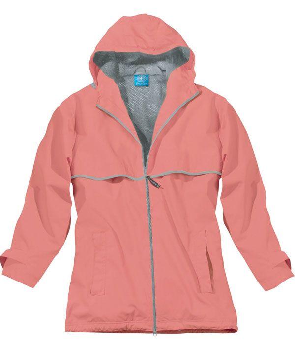 Charles River Apparel 5099 Women's New Englander Rain Jacket Coral Reflective #CharlesRiverApparel #raincoat