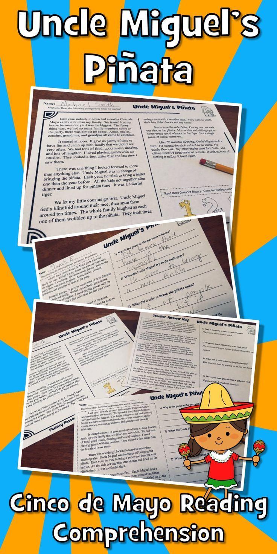 "Cinco de Mayo Reading Comprehension Passage and Questions + Fluency. """