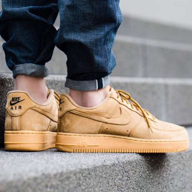Nike Air Force 1 07 Flax Wheat #everysize #airforce1wheat