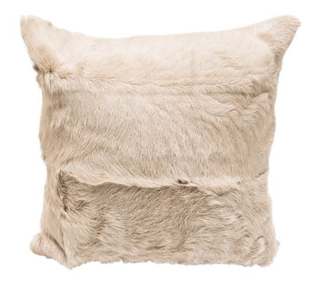 Email interiorworx@xtra.co.nz to purchase, New Zealand residents only Caramel Goat Fur Cushion 40cmSq