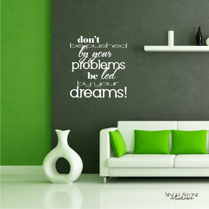 Wall decals quote led by dreams vinyl text wall quotes