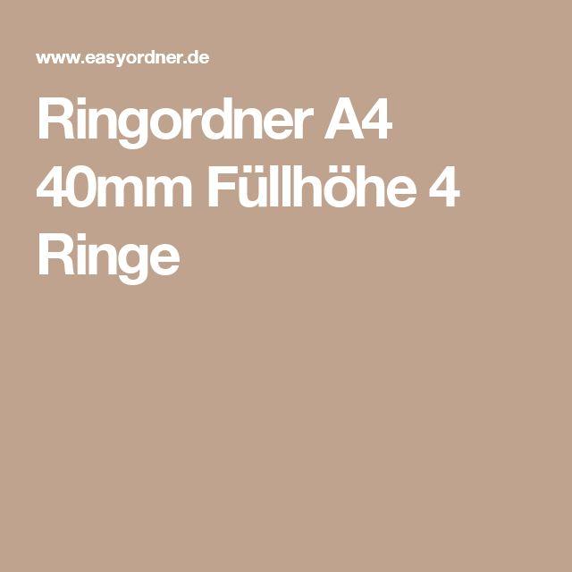 Ringordner A4 40mm Füllhöhe 4 Ringe
