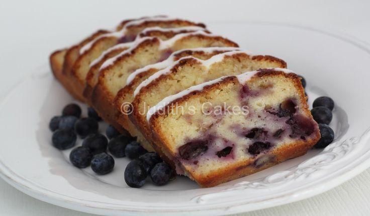 Citroen blauwe bessen yoghurt cake