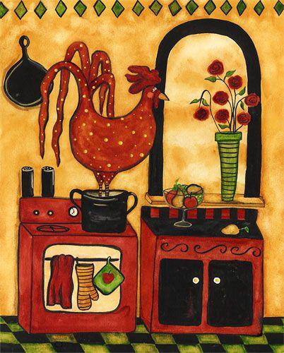 Kitchen Folk Art: 35 Best Images About Debbie Hubbs Paintings On Pinterest