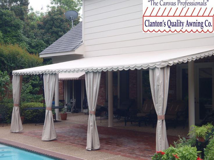 Residential Back Patio Drapes