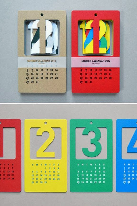 Creative Calendar Design Ideas For 2014 - A Unique Wall Calendar Design From Present
