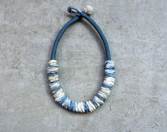 Textile light necklace /minimal necklace/handmade /upcycled