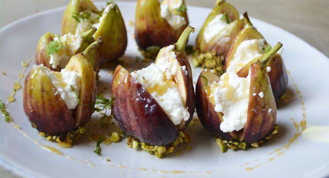 Ricotta-Stuffed Figs