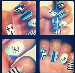 Chanel nails. Very nice job