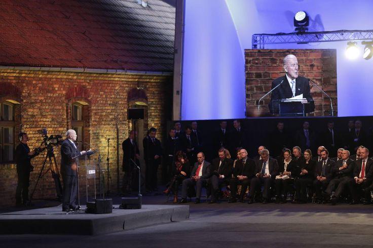 70th anniverary of the liberation of Auschwitz. Auschwitz Survivor Kazimierz Albin.