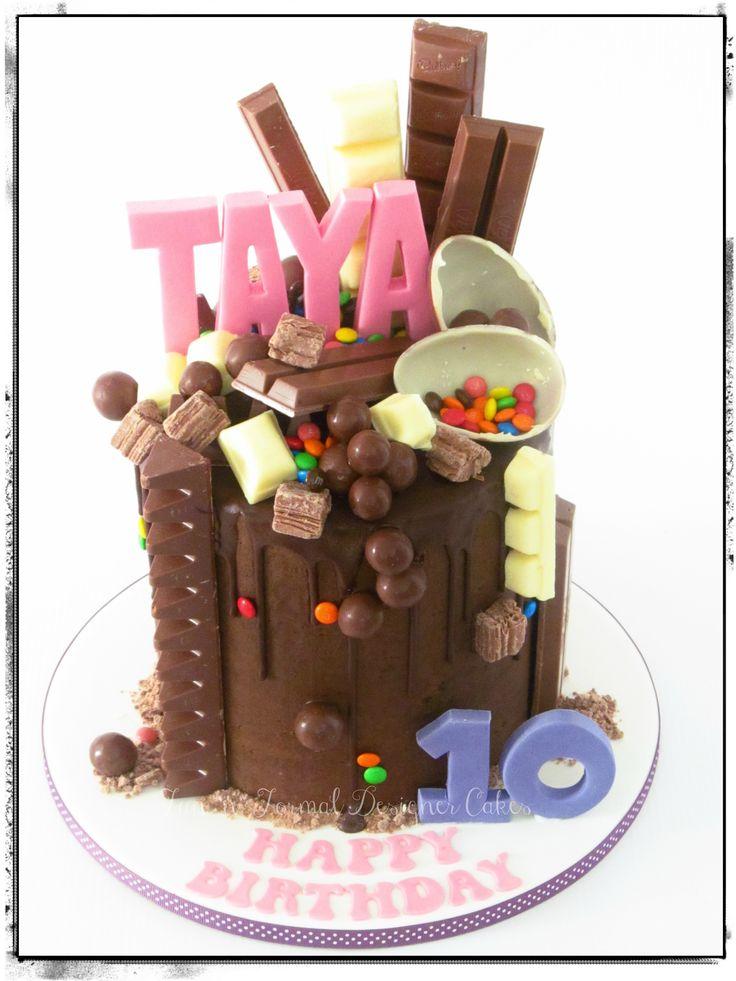 Chocolate overload drip cake.