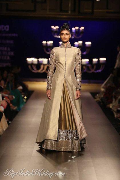Manish Malhotra lehenga with floor-length jacket