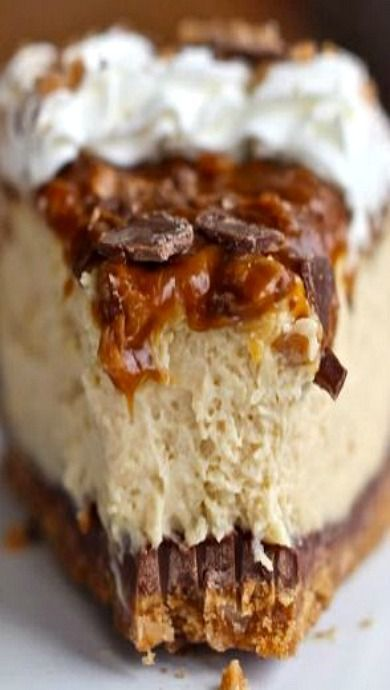 Caramel Toffee Crunch Cheesecake!! I Make This Every Year For Thanksgiving and Trust Me When I Say It Is Unbelievable!!