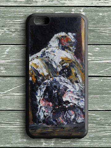 Bull Dog Street Art Painting iPhone 6 Plus Case