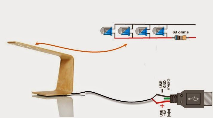 Garralatino: Como hacer una Lampara Led USB Casera