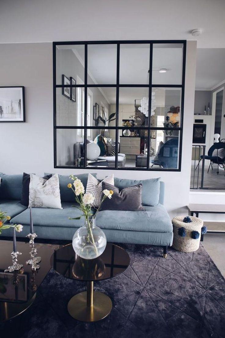 groß 48 Inspirierende Ideen für moderne Wohnzimmerdekorationen, um Ihr Zuhause zu verwalten
