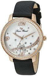 Lucien Piccard Women's LP-16520-RG-02S-BKSS Mirage Analog Display Quartz Black Watch