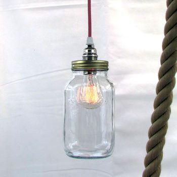 Bespoke Kilner Jar Pendant Light