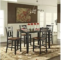 Caden Counter Height Dining Table and 4 Chairs Set