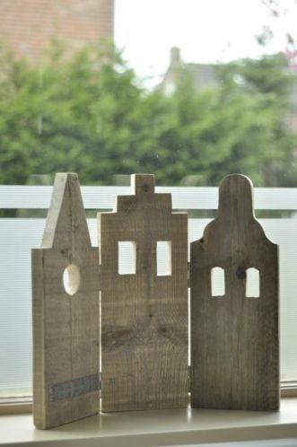Grachtenpandjes, huis, huisjes, steigerhout, luik, luikjes