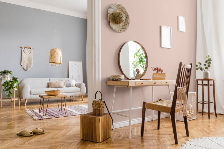 Envie de douceur dans votre intérieur ? Misez sur le beige bauxite !   Peinture interieur maison ...