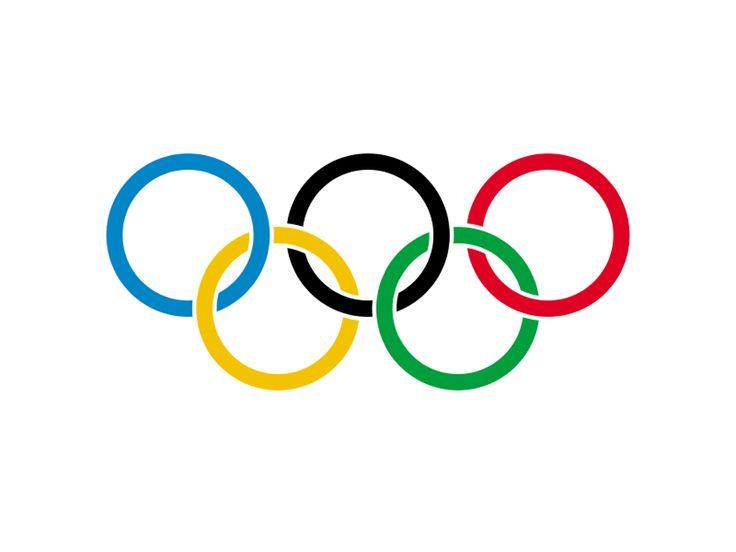 O logo das Olimpíadas é composto por 5 anéis cada um representando um continente: o azul representa a Europa, o amarelo a Asia, o preto a Africa, o verde a Oceania e o vermelho as Américas.