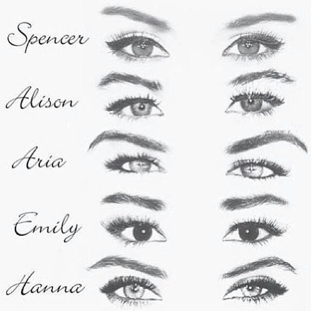 Pretty Little Liars: Spencer Hastings, Alison Dilaurentis, Aria Montgomery, Emily Fields & Hanna Marin
