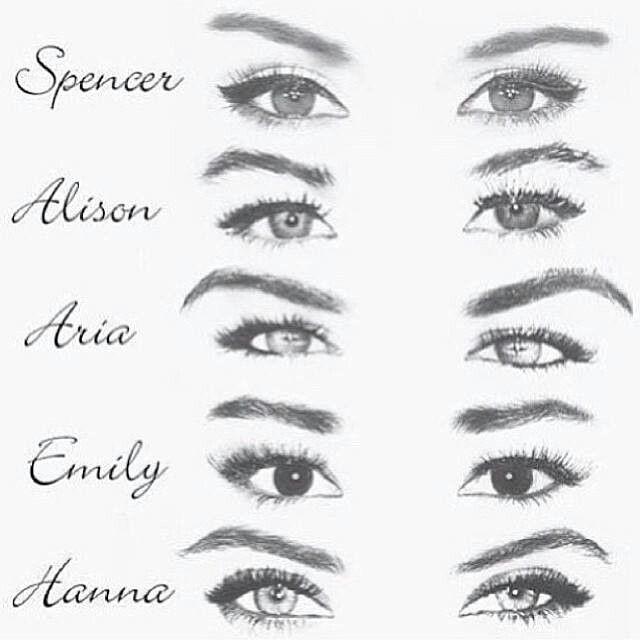 Pretty Little Liars: Spencer Hastings, Alison Dilaurentis, Aria Montgomery, Emily Fields & Hanna Marin