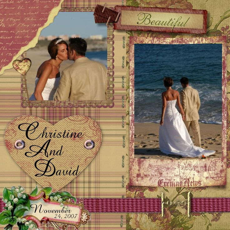 48 Best Images About Wedding Scrapbook Layouts On