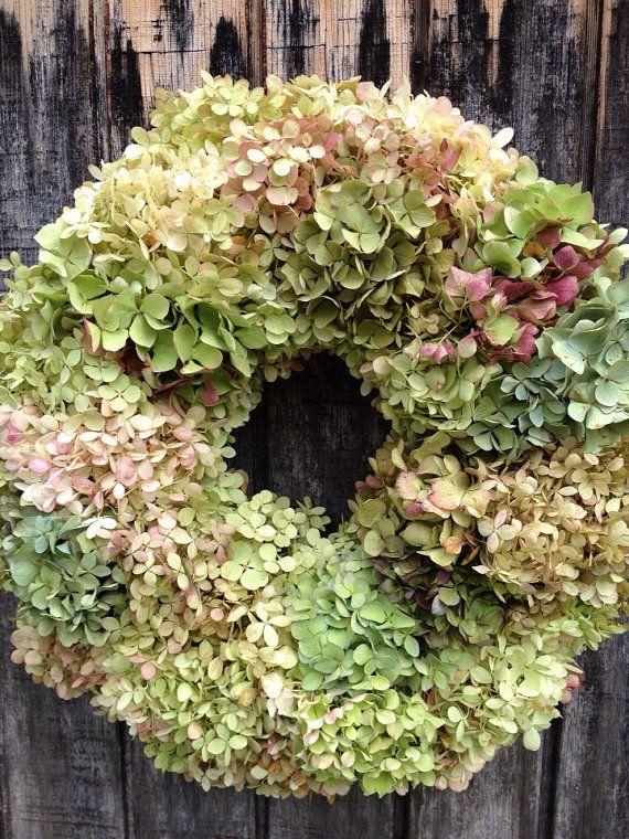 Hydrangea Wreath by RebeccaWattsDesigns on Etsy, $50.00