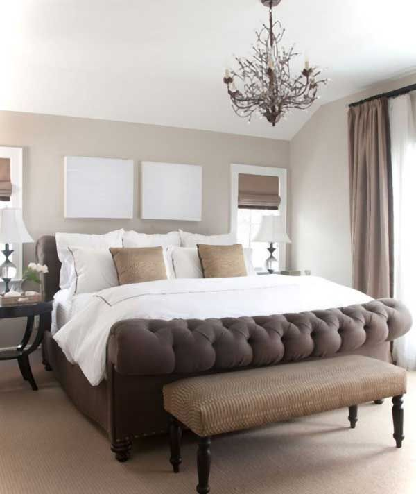 Love the dark browns mixed in with the neutral colors 40 Unbelievably Inspiring Bedroom Design Ideas