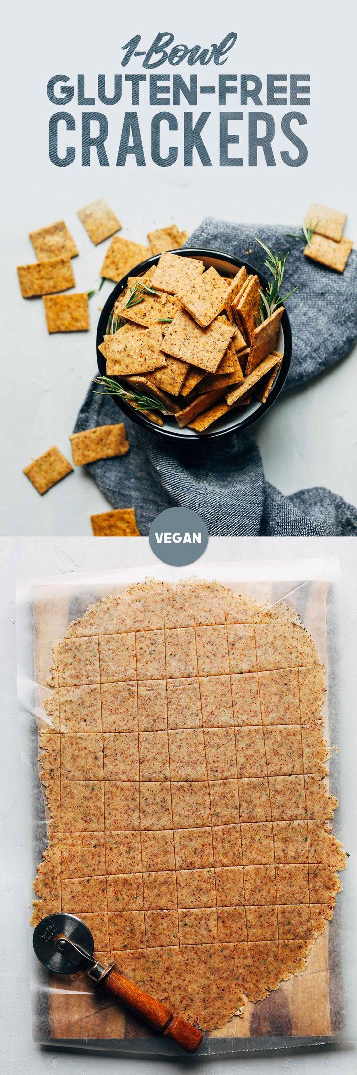 EASY Vegan Gluten-Free Crackers! 7 Ingredients, 1 Bowl, SUPER crispy and delicious!