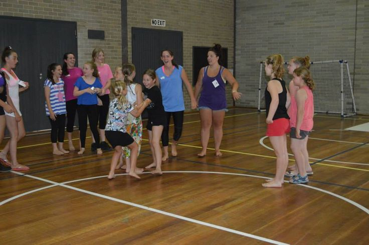 Fun and games at the beginning of Dance Camp