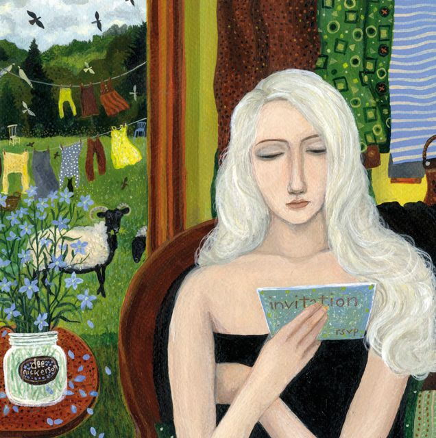 'The Invitation' By Painter Dee Nickerson. Blank Art cards By Green Pebble. www.greenpebble.co.uk