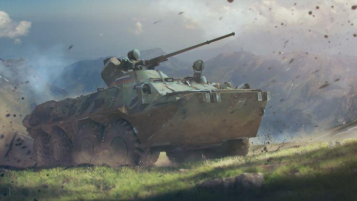 BTR-82A Armoured Personnel Carrier, Ildar Alimov on ArtStation at https://www.artstation.com/artwork/Eowk4