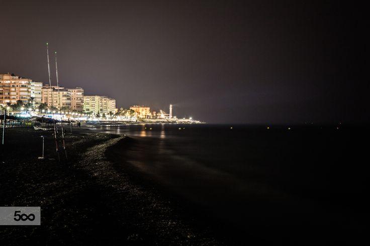 Torrox-Costa at night by Javier Cazorla Arrabal on 500px
