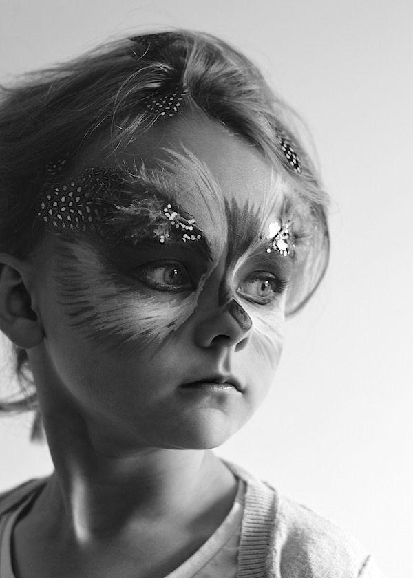 Just So Festival Tribal Tournament Preparation Owl Face Paint 05 lapinblu