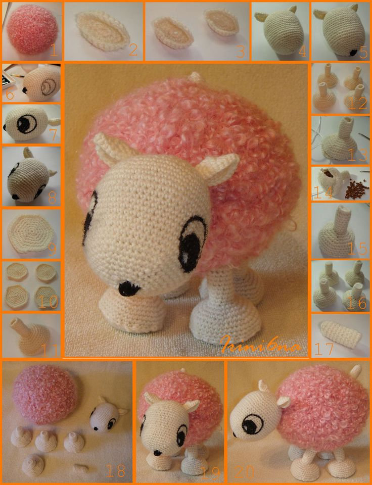 Knitted toy - lamb.
